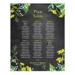 bouquet table mariage printed wedding table plan poster floral design