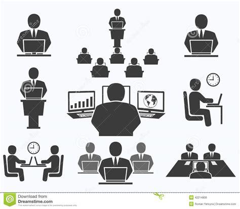 icones bureau gens d 39 affaires icônes de bureau conférence travail d