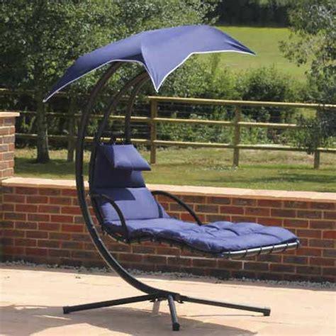 swing sun lounger with umbrella patio furniture