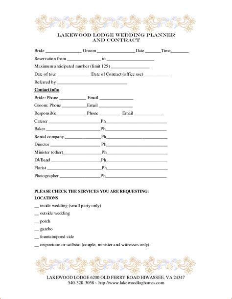 wedding planner template bookletemplateorg