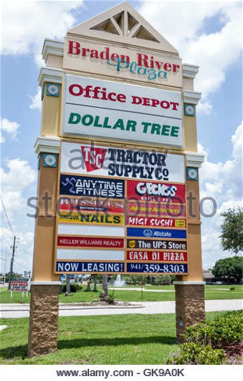 Office Depot Hours Fort Lauderdale by A Sign At A Dollar Tree Store With Business Hours And