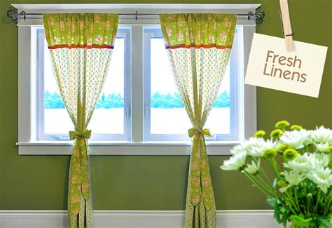 fresh linens apple green panel curtains with jelly roll