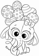 Coloring Pages Elephant Animal Printables Cuties Unicorn Balloons Colouring Bojanke Disney Sheets Kindergarten Preschool Bontontv Monster Printable Slatkice Za Printanje sketch template