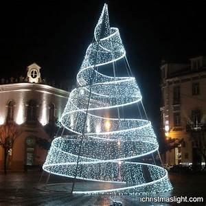 Pre lit outdoor modern Christmas tree iChristmasLight