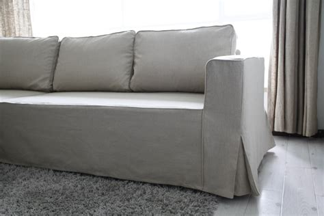 slipcovers for sofas with loose cushions loose fit linen manstad sofa slipcovers now available