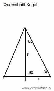 Höhe Eines Kegels Berechnen : volumen volumen eines kegels ausrechnen mit neigungswinkel und umfang mathelounge ~ Themetempest.com Abrechnung