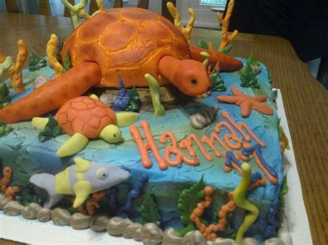 Turtle Cake Decorations - you to see sea turtle birthday cake by brenda mills