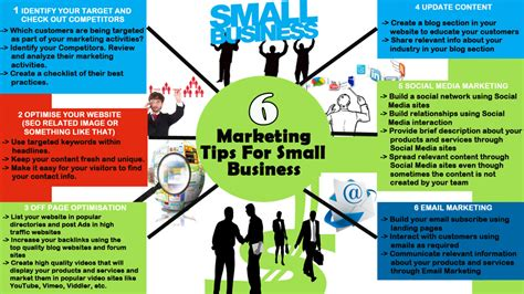 Marketing Tips by 6 Marketing Tips For Small Business Visual Ly