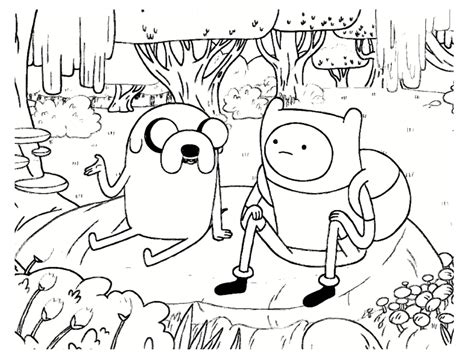 Coloring Time by Coloriage Adventure Time 20 Dessins 224 Imprimer