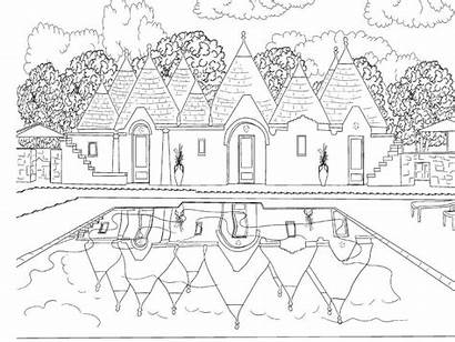 Coloring Colouring Adults Scenery Pages Scene Adult