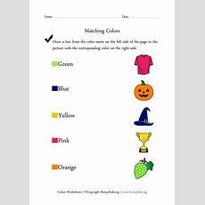 Colors Worksheets  Matching Colors With Pictures  Kids Activity  Learning Letters, Color