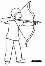 Coloring Bow Arrow Compound Archery Minecraft Boy Template Adults Heart Realistic sketch template