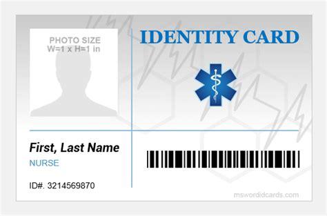 hospital staff id badge templates microsoft word id card