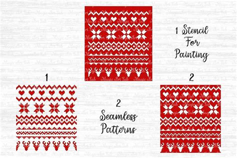 Sweater pattern, digital cut file made specially for cutting machines. Sweater pattern svg, Christmas pattern svg, Ugly sweater ...
