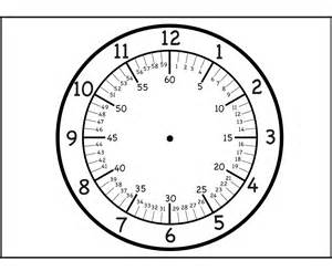 Blank Clock Template Printable | Activity Shelter