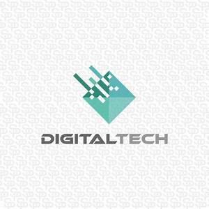 Digital Tech | Logo Design Gallery Inspiration | LogoMix