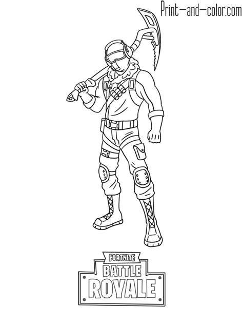 fortnite battle royale coloring page frostbite skin coloring pages fortnite coloring sheets