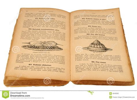livre de cuisine ancien vieux livre de cuisine photographie stock image 4540262
