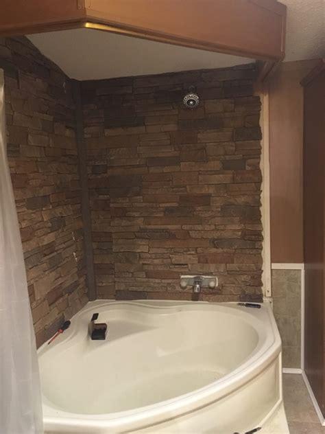 stacked stone shower walls twanas custom shower genstone