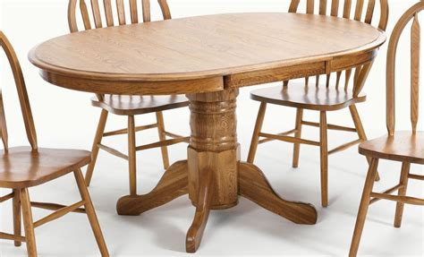 Solid Oak Pedestal Table And Chairs   Shapeyourminds.com