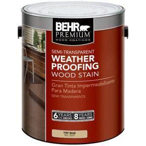 behr premium  gal semi transparent weatherproofing wood