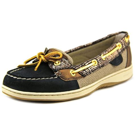 sperry top sider sperry top sider angelfish python womens leather gold boat shoes slip ons
