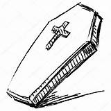 Coffin Cross Drawing Sketch Isolated Clipart Illustration Clip Vector Line Drawings Fotosearch Hand Getdrawings Foto sketch template