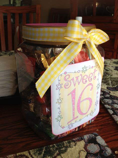 sweet  gift  cycled costco jar filled  candy cute