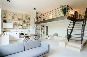 An Old School Building Was Converted Into A New Apartment For A Young Family