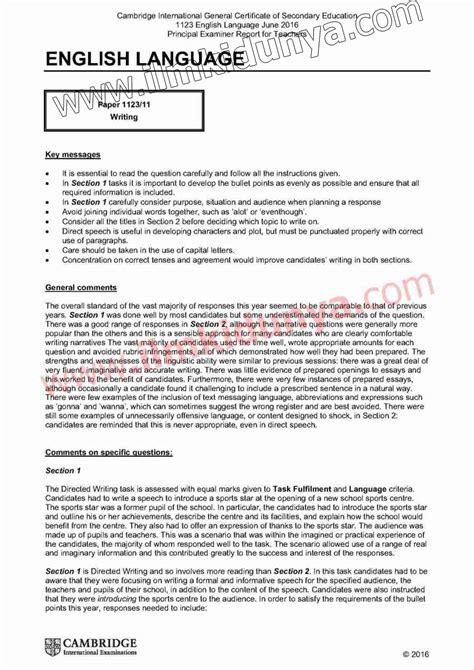 paper  cie cambridge international examinations