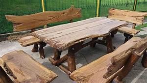 Gartenmöbel Holz Massiv : allg sitzgruppe vollholz holz rustikale gartengarnitur gartenm bel neu massivholz ~ Indierocktalk.com Haus und Dekorationen