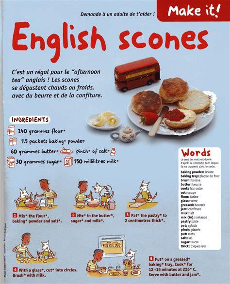 recette de cuisine anglais classe de cm2 ecole ste asserac