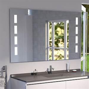 miroir anti buee mosaic 120x80 cm eclairage integre a With miroir led anti buée