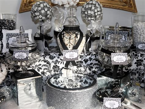 black and white candy table candy buffet in black and white candy buffets l sweetie