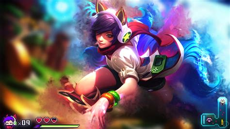 Ahri Animated Wallpaper - arcade ahri league of legends wallpaper by drazieth on