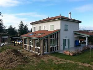 Maison et extension en ossature bois Lyon MV Toiture