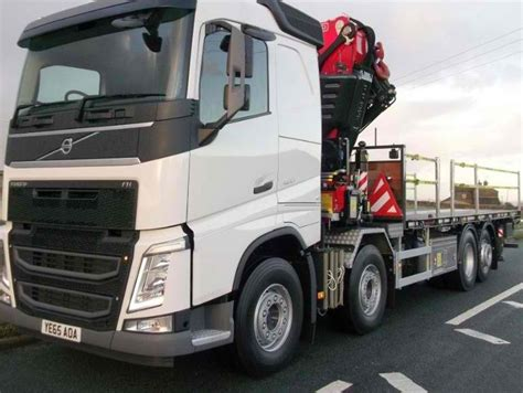 2016 Volvo Fh With Fassi 820 Crane And Flat Truck For Sale