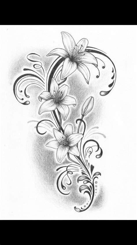 Lilly tattoo - #Lilly #tattoo | Tattoos | Lillies tattoo, Hawaiian flower tattoos, Lily tattoo