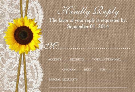 sunflower wedding invitations psd jpg word ai