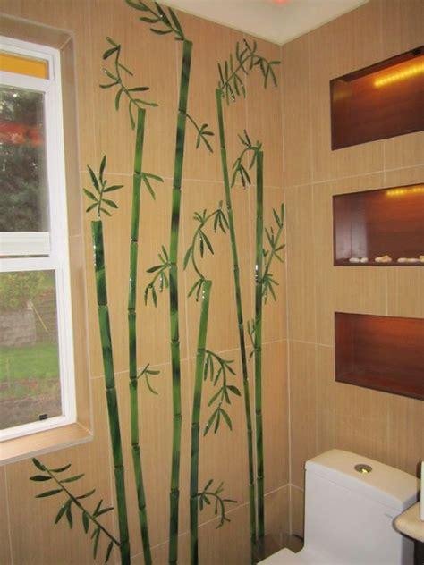 glass decorative tiles  bathroom bamboo stalks