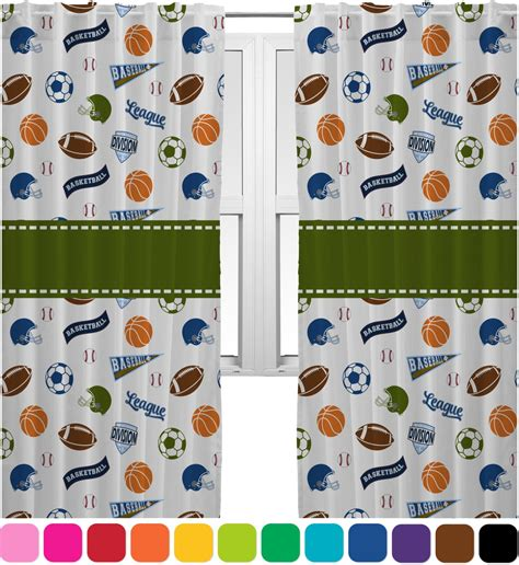 sports curtains 20 quot x54 quot panels unlined 2 panels per