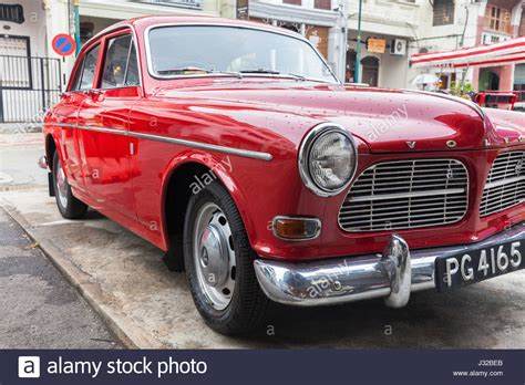 george town malaysia march  volvo amazon parked