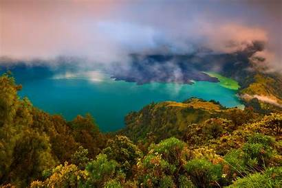 Nature Lake Turquoise Landscape Indonesia Water Forest