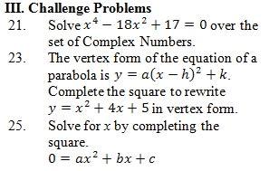 math worksheets go quadratic formula answers algebra 1