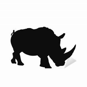 White rhino silhouette Sticker • Pixers® • We live to change