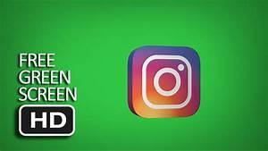 Free Green Screen - Spinning Instagram Logo