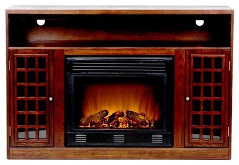 asian inspired media console  electric fireplace