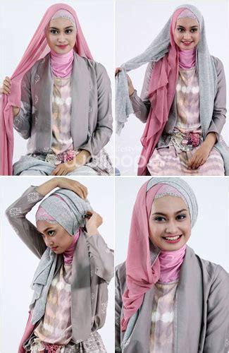 tampil glamour  tutorial hijab pashmina glitter