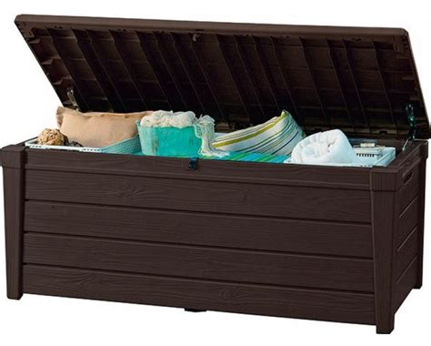 KETER dārza mantu kaste Brightwood 455L | plastikati.lv