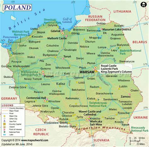 poland map poland   poland map polish language